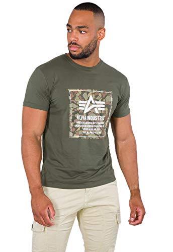 Alpha Industries Camo Block T-Shirt Oliv XXL