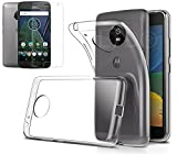 BNBUKLTD® Coque Gel Slim Transparent + Film Protection Ecran en Verre Compatible Motorola Moto G5...