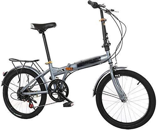 Bicicleta plegable Hombres Mujeres Bicicleta+Ciudad Plegable Mini Bicicleta Compacta Bicicleta Urbana Commuter Adulto Plegable Ciudad Compacta Bicicleta Urbana Commuter-B_20'