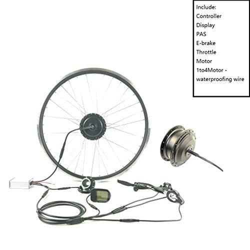 GGD Accesorios de la Bicicleta eléctrica Kit E-Bici Kit de la Rueda Trasera de Cassette Motor 36V350W Kit de conversión de la Bici eléctrica con Pantalla KT LCD5,16inch LCD Sets