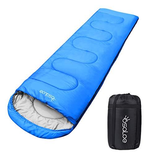 Osaloe Schlafsack, 3-4 Jahreszeiten Deckenschlafsack Wasserdichter Leichtgewicht Schlafsack für Camping Wandern,Sonstige Aktivitäten - Ideal für Erwachsene und Kinder, 1000g