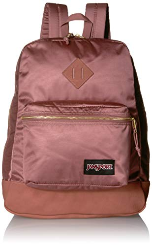 JanSport Super FX Backpack - Trendy School Pack With A Unique Textured Surface, Mocha Gold Premium Poly