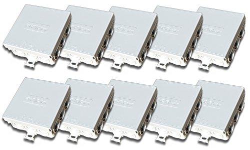 10 Stück Verbindungsdose Abzweigdose 85 x 85 x 37 mm IP55 Feuchtraum