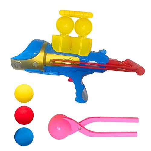Erfula Lanzador de Bolas de Nieve, Impactador de Combate de Bola de Nieve Azul con Mango, Forma esférica, Divertido Lanzador de Bolas de Nieve Lanza Pistola de Juguete consistent Expedient