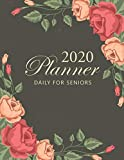 2020 Daily Planner For Seniors: Vintage Rose Cover | Big Print 2020 Calendar Holidays | 12 Month and Weekly Planner Large Print | 52 Weeks Daily Dated ... | Datebooks Appointment Notebook for Seniors