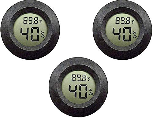 Gcace Hygrometer Thermometer, Digital Accurate Indoor Outdoor, with Backlight Temperature Humidity Monitor for Humidifiers Dehumidifiers Greenhouse Basement Babyroom, Greenhouse Reptile