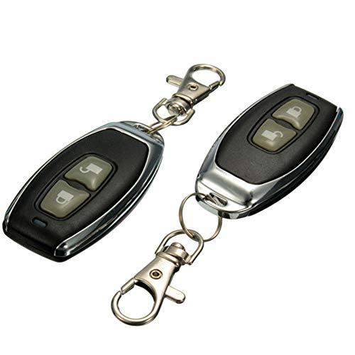 belupai Kit de sistema de entrada sin llave para coche de 2 o 4 puertas y mando a distancia