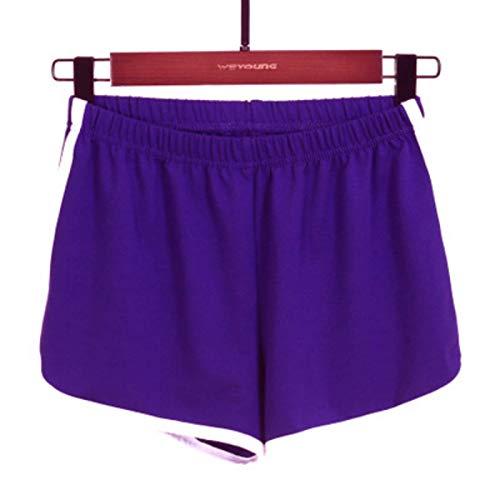 Pantalones Cortos Deportivos de algodón de Verano para Mujer, Cintura elástica Informal, Secado rápido, Entrenamiento de Yoga, Correr, Jogging, Pantalones Cortos 4X-Large