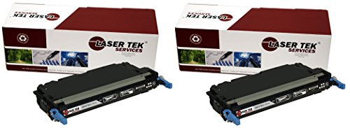 Laser Tek Services Compatible Toner Cartridge Replacement for HP 501A Q6470A (Black, 2-Pack)