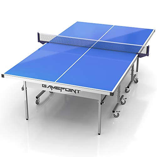Cheapest Price! GamePoint Tables Outdoor Ping Pong Table - Weatherproof, Foldable, Tension Adjustabl...