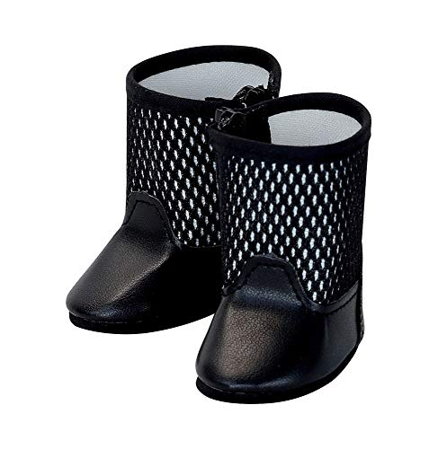 PETITCOLLIN - Zwarte laarzen voor Pupée, maat 39/40/44/48, kleding en schoenen, meerkleurig (603917).