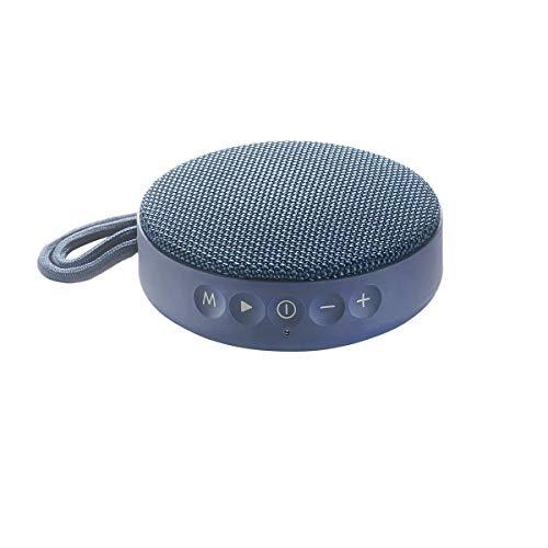 Vieta Pro Round Up - Altavoz inalámbrico (Bluetooth, radio FM, reproductor USB, entrada micro SD, auxiliar, micrófono integrado) azul