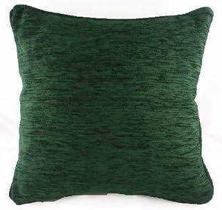 Vert foncé Savannah Coussin en chenille avec bord passepoilé–Evans Lichfield 43,2x 43,2cm