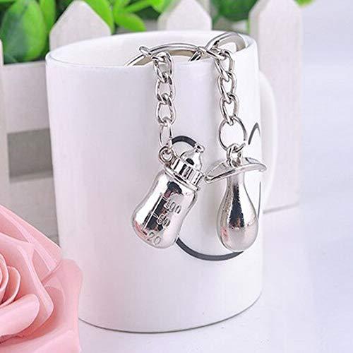 KMNXVG Lovely Key Chain Valentinstag Baby Schnuller Flasche Keychain Cute Birthday Key Chain