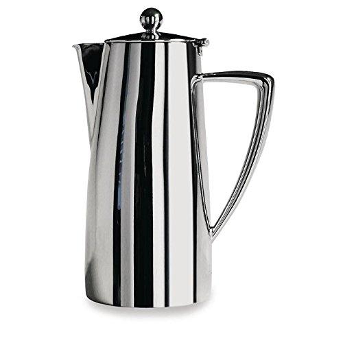 Café Stål Art Deco DC-017 Doppelwandige Kaffeekanne aus hochwertigem 18/10 Edelstahl – Hochglanzpolitur, 17oz