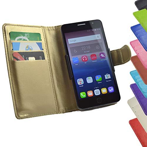 ikracase Tasche für Medion Life P5006 Hülle Cover Hülle Etui Handy-Tasche Schutz-Hülle in Gold