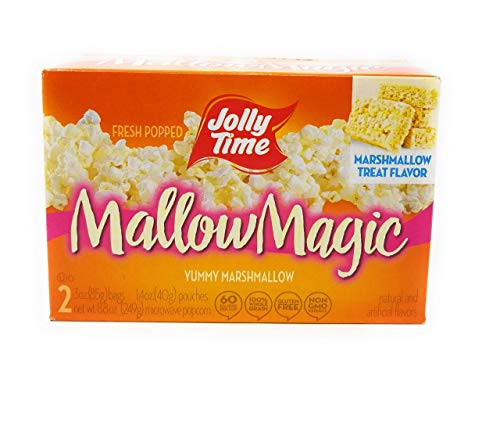 Lowest Prices! Jolly Time Mallow Magic Marshmallow Flavor Microwave Popcorn, 2-Count Boxes (Pack of ...