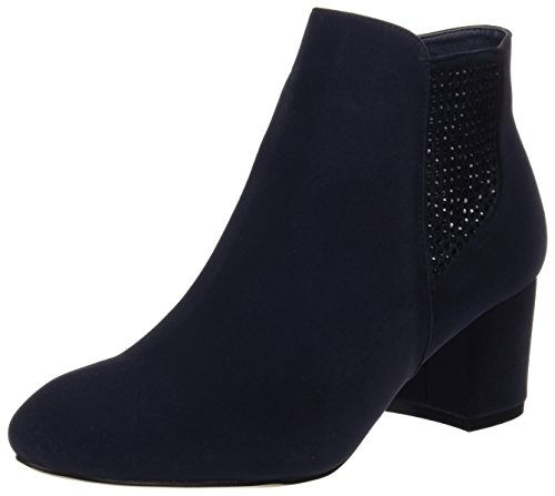 MARIA MARE Basic Calzado Señora, Zapatos de tacón con Punta Cerrada para Mujer, Azul (Peach Marino), 38 EU