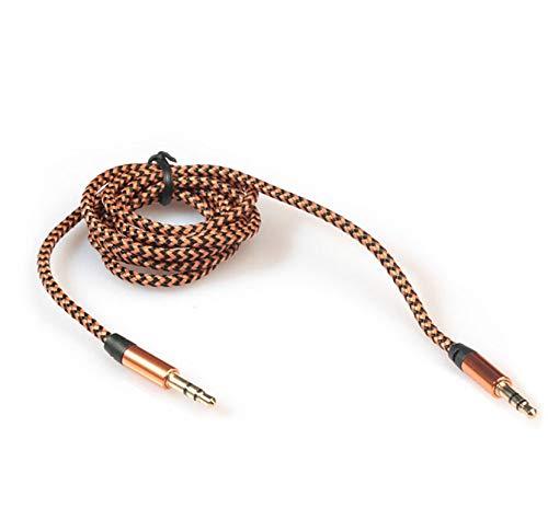 JIEIIFAFH Estéreo del Coche de 3.5mm Cable de Audio Auxiliar Macho a Macho for Stereo Aux Móvil Auxiliar de Sonido de 3,5 mm de Datos de Audio por Cable 909 (Color : E)