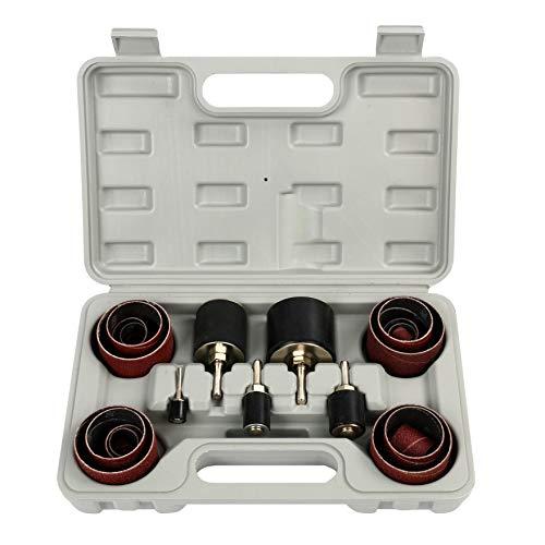FreeTec 25tlg. Schleifhülsen Schleifwalzen Set Schleifrolle für Bohrmaschine Schleifband Schleifpapier 80er-Körnung