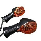 2pcs Motorcycle Indicator Lamp Motorcycle Gurn Sirve Light/Fit para Suzuki GSF 600/650/1200/1250 N/S/Fit para Bandit GSF1250SA DL (Color : 2pcs)