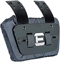 EliteTek Sports - Universal FIT for All Shoulder Pads - Football - Back Plate - Sternum Plate - Youth & Adult Sizes - Adjustable & Removable (Black & White, Youth Back Plate)