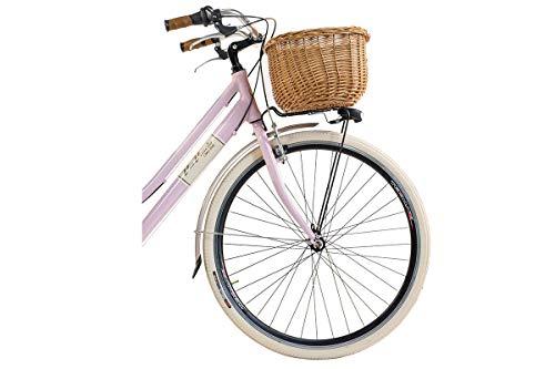 Via Veneto By Canellini Fahrrad Rad Citybike CTB Frau Vintage Retro Via Veneto Alluminium (Rose, 46) - 5