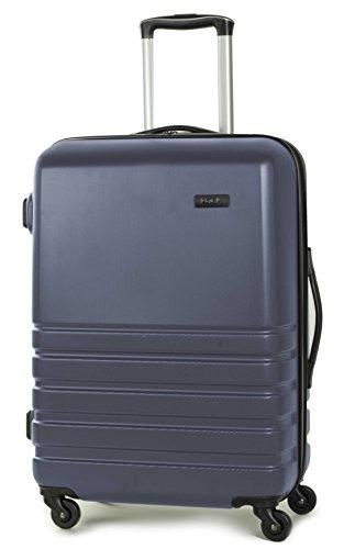 Rock Byron 64cm Hardshell Four Wheel Spinner Suitcase Navy