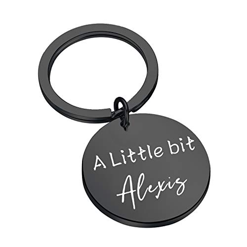 CENWA A Little Alexis Keychain Funny Gift Tv Show Inspired Gift (A Little bit Black K)