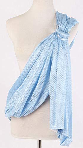 Envoltura de bebé Portador Infantil Sling Tiempo cálido Ligero, Toalla Trasera de Doble Anillo, seco rápido Transpirable (Azul Profundo),Light Blue