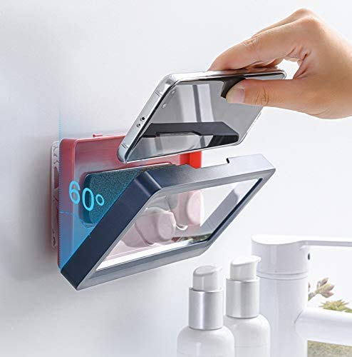 OADAA Shower Pro - Mountable Phone Case, Shower Phone Holder, Punch-Free, Waterproof Wall Mount HD, Anti-Fog Touch Screen Mobile Phones Holder For Shower Wall, Fits All Mobile Phones Under 6.8 Inches