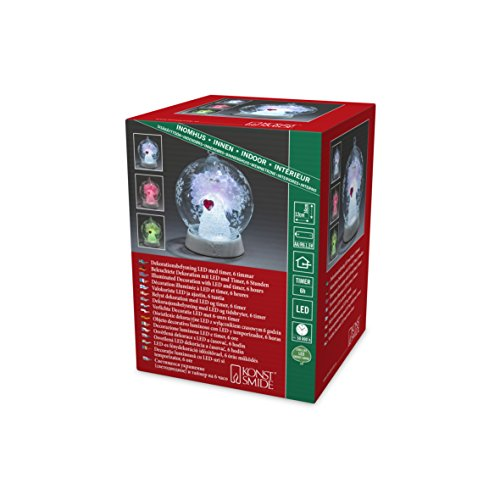 Konstsmide 3406-000 Boule de Verre à LED, Plastique/,, 0.12 W, Multicolore