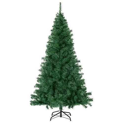 SALCAR Albero di Natale Artificiale 210 cm con 718 Punte per Rami, ignifugo, Abete, Montaggio Rapido, Supporto per Albero di Natale in Metallo Natale, Verde Deco 2,1 m