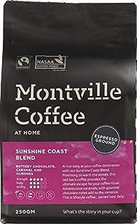 MONTVILLE COFFEE Sunshine Coast Blend Espresso Ground Coffee 250 g,  250 g