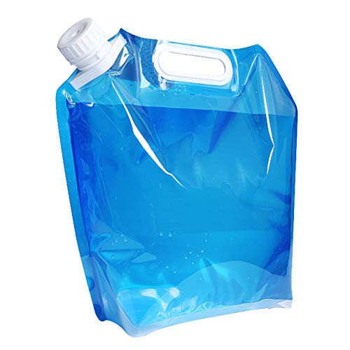 BESPORTBLE 2 STÜCKE 10L Wassersäcke Falten Wasservorratsbehälter Eimer Einkaufstasche für Wandern Auto Reise Outdoor Camping BBQ - Blau