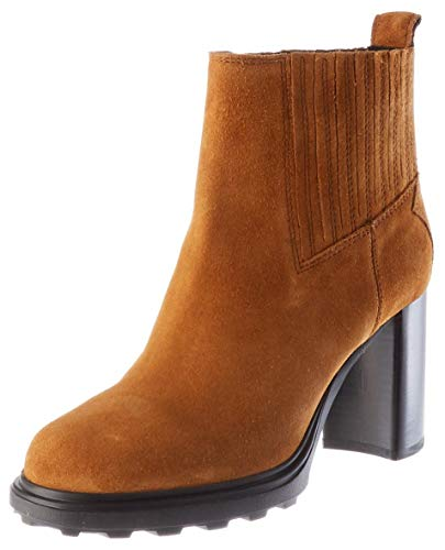 Geox Damen D SALICE HIGH B Ankle Boot, Cognac, 36 EU
