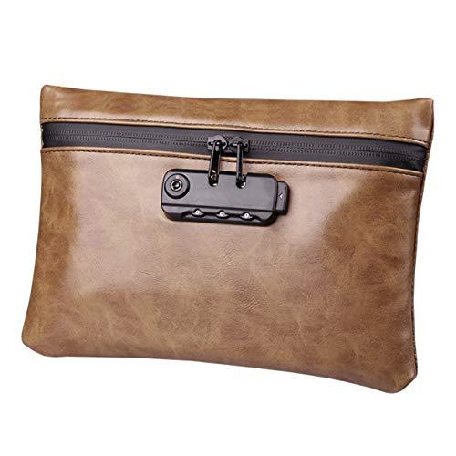 RB Tragbare geruchsdichte Tasche, wasserdichte Tasche mit Zahlenschloss, braun (Braun) - 18135604461