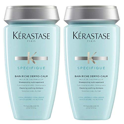 KÉRASTASE CHAMPÚ ESPECIFICO DERMO-CALM BAIN RICHE 250ML DUO