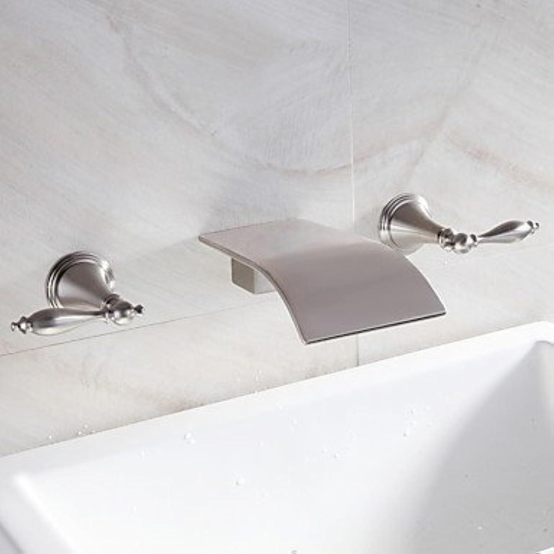 GAOLI Waschtischarmaturen Wasserfall Waschbecken Wasserhahn weit verbreitete zeitgenssisches Design Wasserhahn (vernickelt)