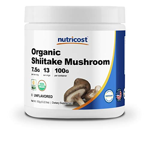 Nutricost Organic Shiitake Mushroom Powder 100 Grams - Gluten Free, Non-GMO