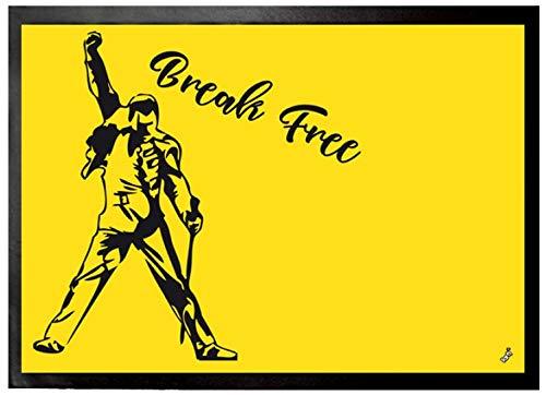 1art1 Música - Break Free Felpudo Alfombra (70 x 50cm)