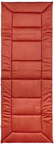 greemotion Relaxauflage 122255, XL-Auflage in einem roten Farbton, Stuhlauflage aus 100% Polyester mit hochwertiger Vliesfüllung, Alcastyle Oberfläche, strapazierfähiger Stuhlbezug, welcher sich optimal dem Rücken anpasst, die Maße der Auflage betragen ca. 160 x 57 x 4 cm