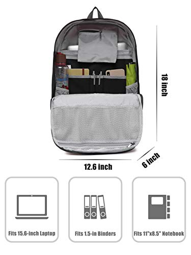 41uNCSutTRL - 936Plus Mochila Universidad, para portatil 15.6 Pulgadas, 26 litros, Negro