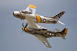 Posterazzi GLP469052LARGE Poster Print Collection A P-51 Mustang And F-86 Sabre Of The Warbird Heritage Foundation Poster ...