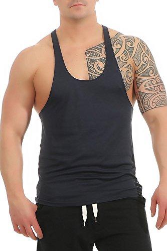 Herren Stringer Bodybuilding Tank Top Muskel Shirt Vest, Größe:XXL, Farbe:Dunkelblau