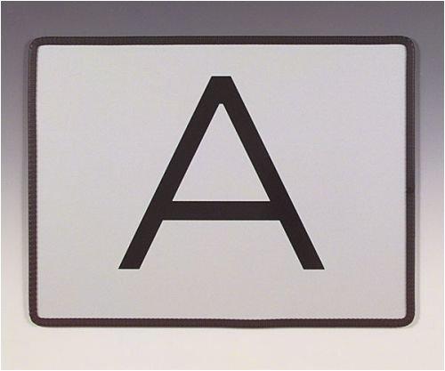 3712. Waarschuwingsbord voor het markeren van afvaltransporten (A-tafel), stijf, verzinkt staalplaat 1,25 mm, plaatstaal, thermisch verzinkt, met 3M-folie [type 1] grootte 40,00 cm x 30,00 cm