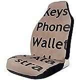 Fall Ing Teclas Conjunto de billetera del teléfono Alarma Apagar enderezador Fundas de asientos de automóvil Protector de asientos delanteros automáticos