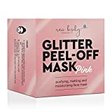 GLITTER PEEL-OFF MASK PINK - Die pinke Maske zum Entfernen von Hautunreinheiten mit dem gewissen Glitzer-Effekt für schönere Haut.
