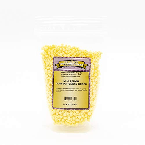 Mini Lemon Confectionery Drops, Bulk Size, Baking Chips (1 lb. Resealable Zip Lock Stand Up Bag)
