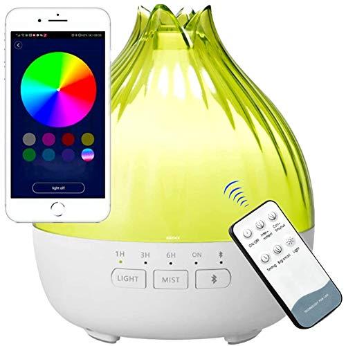 350ml Difusor de Aromas, Altavoces Bluetooth, Bluetooth 5.0, Difusor...